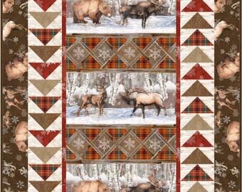 Geese in the Wilderness Quilt ePattern, 4059-2, wall quilt pattern, lap quilt, man quilt