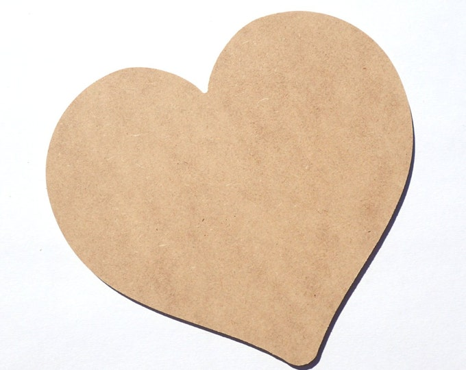 Heart Plaque -  Use as a Base for Mosaics Decoupage or Decorative Painting - Unfinished MDF Thin - Love Valentines Day