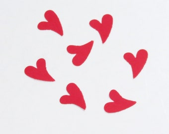 Red Crooked Heart Confetti Wedding Love 600 Pieces
