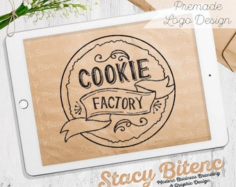 Cookie Logo - Bakery logo - Sweets logo - Dog bakery - pet bakery - business branding - logo design - Facebook banner - Gluten Free cookie