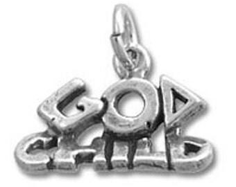 God Child Charm - Sterling Silver