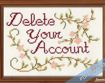 Delete Your Account - Instant Pattern
