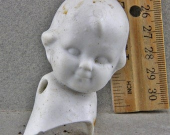 Vintage German  Doll  Head for Altered Art Doll Making Art Doll