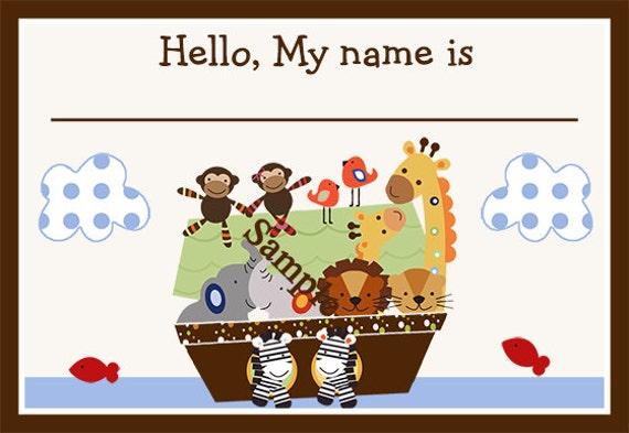 printable noah u0026 39 s ark  animal pairs name tags