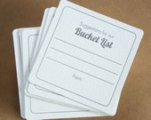 100 Suggestions for our Bucket List Coasters, (Letterpress printed, 3.5 inch square) set of 50