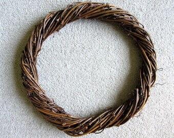"19"" Grapevine Wreath Form Natural Wood"