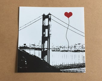 Golden Gate Bridge San Francisco Lover's sticker
