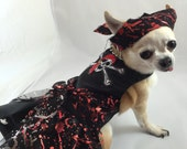 My Precious Pirate, designer Halloween Dog Costume, fancy dog costume,holiday dog dress, large dog dress, dainty dog dress, fancy dress.