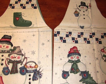 Snow Buddies Easy Snowman Vest Kit Including Lining Size S Dianna Marcum for Marcus Bros