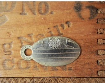 ON SALE Vintage United States Coast Guard USCG Military Id Tag - New Old Stock Blank - For Stamping / Engraving -Quantities Available