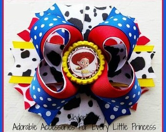 Toy Story Jessie Inspired Hair Bow Clip