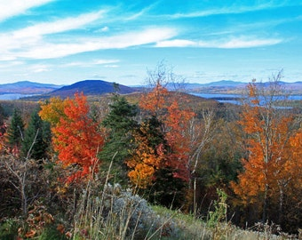 View on Rangeley Lakes Scenic Byway in Maine