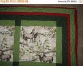 CIJ Horse Quilt, Twin, Large Lap, Winter