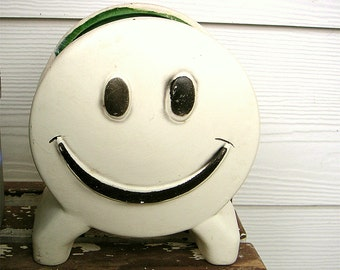Vintage Floracal Smiley Face Planter California