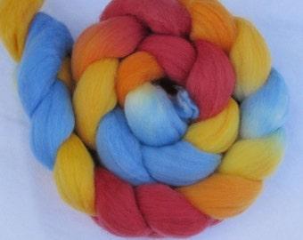 Polwarth wool spinning top Yeps, roving