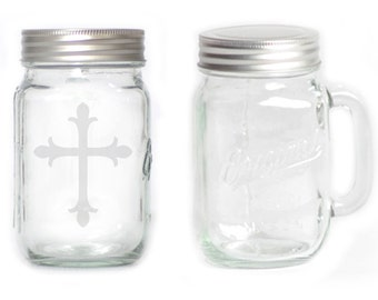 Mason Jar  Mug - 15 oz. small  2662 Cross