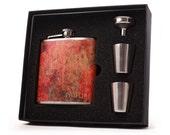 Liquor Flask // Personalized Flask // Spatter 6 oz Custom Flask