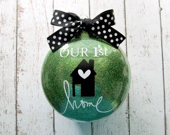 Our First Home Ornament - New House Ornament - First Home Ornament - New Home Ornament - Housewarming Gift - Realtor Gift