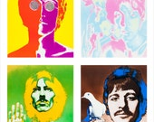 "The Beatles collective portraits by Richard Avedon  - 11""x14"", 16""x20"" or 22""x28"" - The Beatles - 60's pop art Psychedelic Poster art"