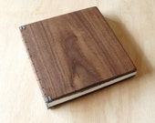 Wood Wedding Guest Book Black Walnut Rustic Cabin Guestbook Journal  memorial book anniversary gift  woodland elegant  - ready to ship