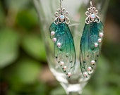 Nyad Fairy Wing Silver earrings