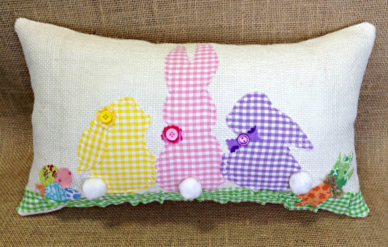 Cute Bunny Pillow : Easter Bunny Pillow Easter Pillow Easter Decoration Easter