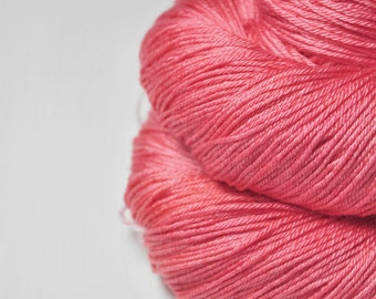 Artificial rose coral  - Merino/Silk Fingering Yarn Superwash