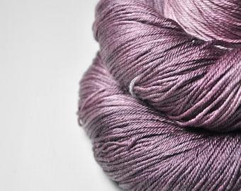 Rotten cherry ice cream OOAK - Merino/Silk Fingering Yarn Superwash