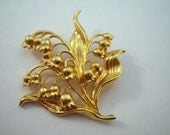 Vintage Lily of the valley brooch