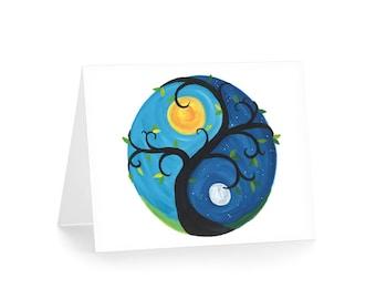 Yin Yang Tree Blank Greeting Card & Envelope