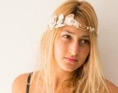 bohemian bridal headpiece, Boho flower crown, bohemian headpiece, boho crown, rustic flower crown, bohemian crown, boho floral crown, brides