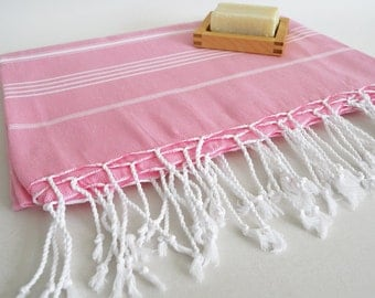 SALE 50 OFF/ Classic Blanket / Light Pink / Beach blanket, Picnic blanket, Sofa throw, Tablecloth, Bedcover
