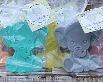 Large Elephant Soap Party Favors:  Birthday favors, Elephant Favors, Baby Shower Favors, Baby Sprinkle, Wedding Favors, Jungle favors,