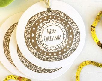 Christmas Tags - Christmas Gift Tags - Gold Christmas Gift Tags - Holiday Gift Tags - Holiday Tags - Christmas Wrapping