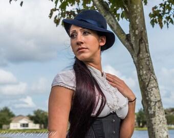SALE SALE SALE!! 1920's style elegant hat royal blue