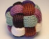 Braided Ball, Knit Toy, Soft Baby Rattle, Stress Ball, Juggling Ball