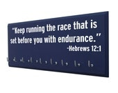 Running, Running Medal display, inspirational bible verse, running medal holder, runners medal rack, race medal holder, running medal rack