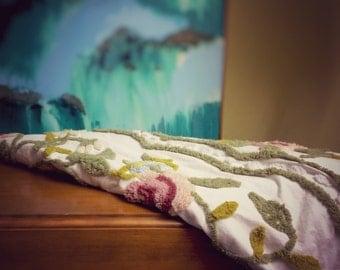 Retro Chenille Fabric Bedspread