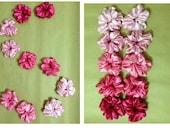 PINK SET silk satin hair scrunchies Shade of Pink Light Pink Hot Pink Dark Pink Baby Pink Pale Pink silk satin hair scrunchies custom made