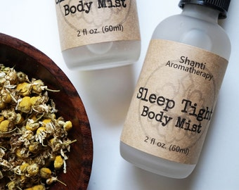 Sleep Tight Aromatherapy Mist for Relaxation - Supports Healthy Sleep - Handmade - Pure Essential Oils - all natural - 2oz