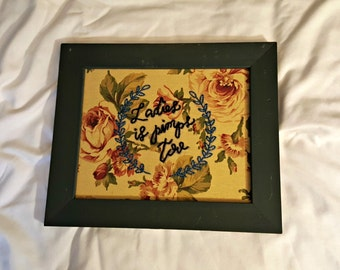 Ladies is pimps, embroidered art