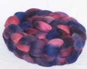 Spinning Fiber Berry Pie Roving Hand dyed Merino Top Wool 19.5 Micron, 4 ounces