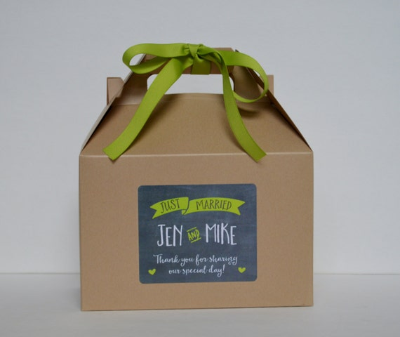 Box / Wedding guest box / Wedding rehearsal favor Box / Out of town ...