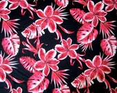 Lycra Fabric Hawaiian Hibiscus Floral Print Lycra Swimwear Fabric Dance Wear Sportswear Crafts Sewing Y13