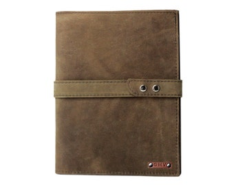 Executive Padfolio in Distressed Leather Made in the U.S.A. - LG-DIS-EXPDF