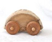 cedar racer- ONE natural wood car made from cedar
