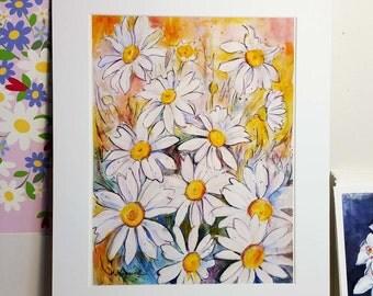 Daisies Print 11 x 14