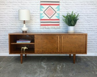 Kasse Credenza / TV Stand - Solid Cherry - Teak Finish