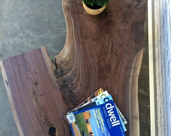 Live Edge Walnut Coffee Table - In Stock! #256