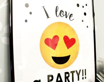 EMOJI POSTER - Emoji Birthday party poster - Emoji Party - Emoji Sleepover - Social Media Party - Printable Party Pack Collection